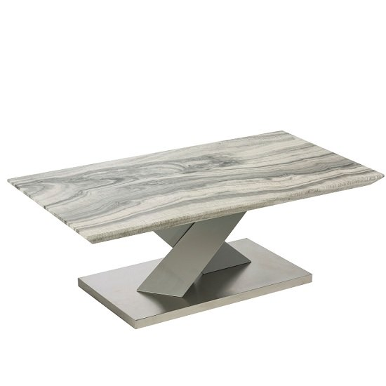 Malin Coffee Table In Granite Effect And High Gloss Grey
